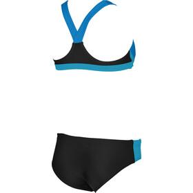 arena Ren Traje de Baño Dos Piezas Niñas, black-pix blue-turquoise